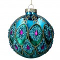 Peacock Blue Glass Bauble