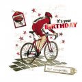Cycling, Birthday Card