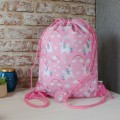 Rainbow Unicorn Drawstring Bag