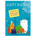 Monster Wishes, Birthday Card