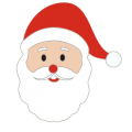 Santa Pin Badge