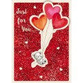 Bear & Balloons Valentines Day Card