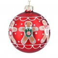 Gingerbread glass bauble