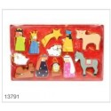 Coloured Nativity Decorations