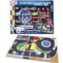 Metal Emergency Force Playset including Playmat
