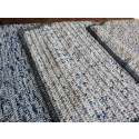 Hand Knitted Blanket - Medium Blue Chenille