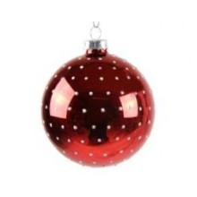 Red Bauble Polka Dots