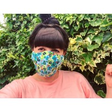 Adult 2 Layer Mask Pansy Greens