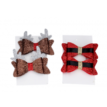 Fabric bow hair clip pack