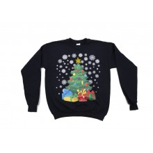 Kids Blue Christmas Tree Jumper