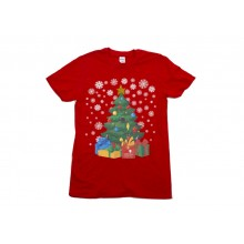Adult Red Christmas Tree T-shirt