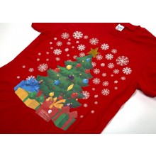 Kids Red Christmas Tree T-shirt