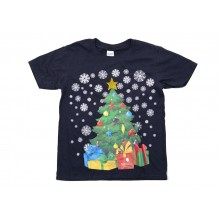 Adult Blue Christmas Tree T-shirt