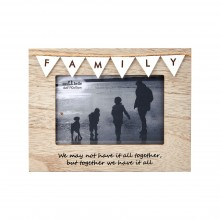 Sass and Belle Vintage Bunting Family Photo Frame