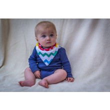 Rainbow Chevron Dribble Bib