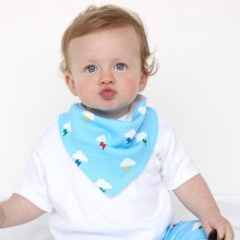 Blue Clouds Dribble Bib