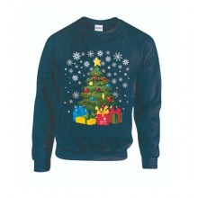 Adult Blue Christmas Tree Jumper