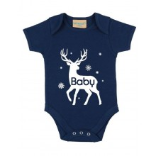 Baby Navy Personalised Short-sleeved bodysuit