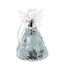Glass Angel With Decorated Skirt