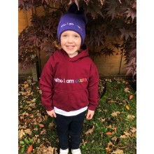 Who I Am Counts Kids Burgundy Hoodie