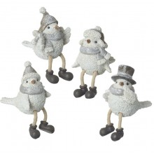 Grey Or White Birds In Hats - 1 Decoration