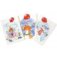 Red Balloon Christmas Cards