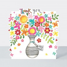Cloud Cuckoo Land - Thank You Vase of Flowers