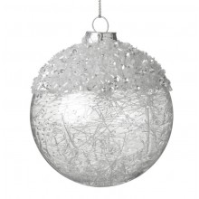 Hanging Glass Bauble With Decoration