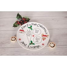 Father Christmas and Rudolph Plate
