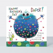Father's Day Card - From Your Little Monster