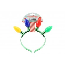 Joy To The World Flashing Bulb Headband