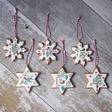 Nordic Iced Gingerbread Star or Flake