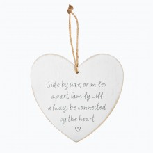Sass and Belle Side by Side or Miles Apart Heart Plaque