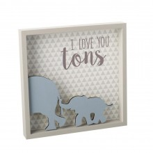 I love you tons wooden plaque