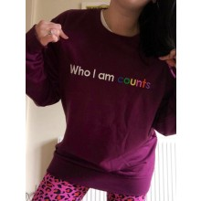 Who I Am Counts Sweatshirt Plum