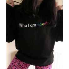 Who I Am Counts Jet Black Hoodie