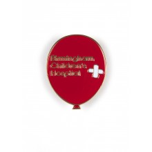 Red Balloon Pin Badge