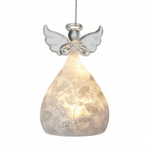 Glass Light Up Angel with Pattern Skirt
