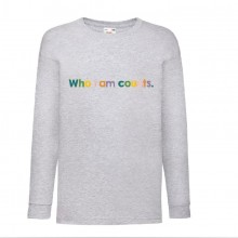 Who I Am Counts Kids Long Sleeved Grey T-shirt