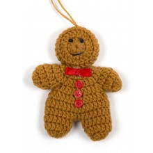 Knitted Gingerbread Man Decoration