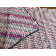 Hand Knitted Blanket - Large Pink
