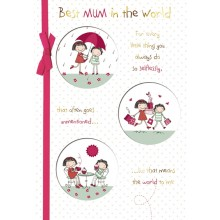 Best Mum In The World Mothers Day Card