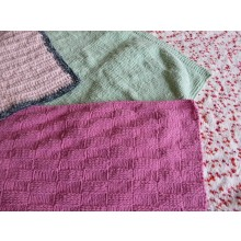 Hand Knitted Blanket - Medium Chenille