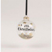 Merry christmas bauble with stars