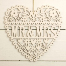 Mr and Mrs Heart Decoration