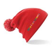 Who I Am Counts Kid Red Pom Pom Hat