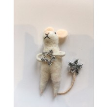 Wool Mouse With Silver Star