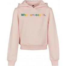 Who I Am Counts Kids Cropped Light Pink Hoodie.