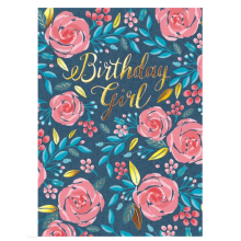 Pink Roses, Birthday Card