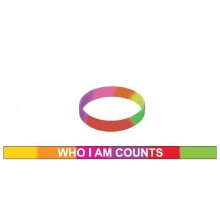 Silicon Wristband Who I Am Counts